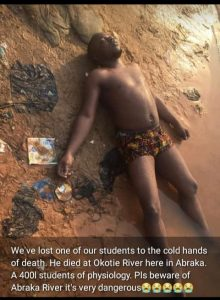 [Photo]Delsu 400L Student, Omodia Precious Dies While Swimming