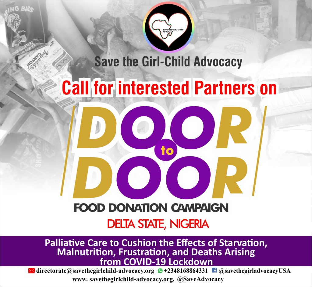 Food Donation Sponsorship Package:Save the Girl Child Advocacy