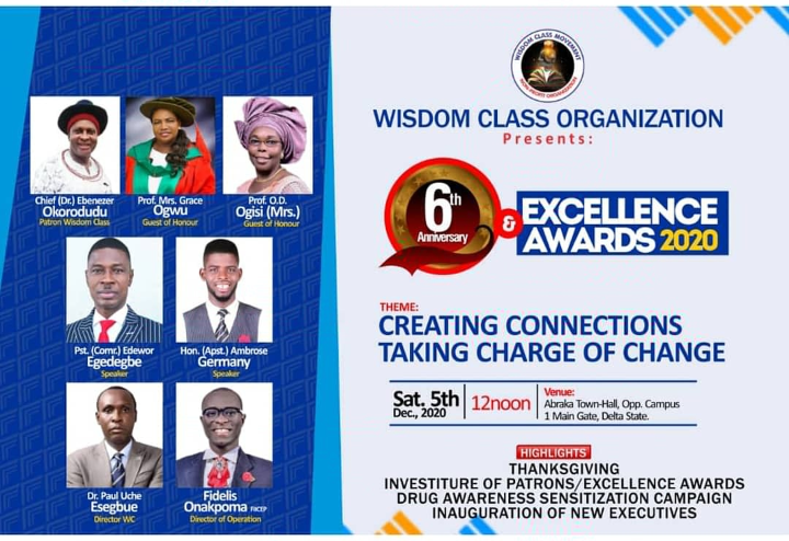 WISDOM CLASS EXCELLENCE AWARD 2020… Special Invitation.
