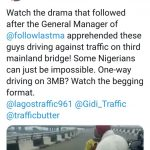 LASTMA General Manager Caught A Man Driving One-Way On 3rd Mainland Bridge